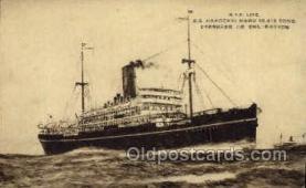 nyk001179 - S.S. Hakozaki Maru Nippon Yusen Kaisha Ship, NYK Shipping Postcard Postcards