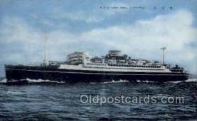 nyk001186 - S.S. Chichibo Maru Nippon Yusen Kaisha Ship, NYK Shipping Postcard Postcards