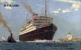 nyk001187 - S.S. Chichibo Maru Nippon Yusen Kaisha Ship, NYK Shipping Postcard Postcards