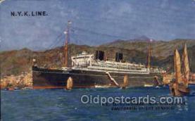 nyk001189 - S.S. Tatsuta Maru Nippon Yusen Kaisha Ship, NYK Shipping Postcard Postcards