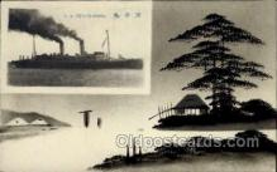 nyk001222 - S.S. Tenyo Maru Nippon Yusen Kaisha Ship, NYK Shipping Postcard Postcards