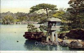 nyk001343 - Japanese Garden Nippon Yusen Kaisha Ship, NYK Shipping Postcard Postcards