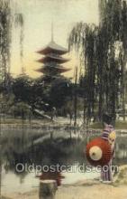 nyk001349 - Five Storied Pagoda, Nara Park Nippon Yusen Kaisha Ship, NYK Shipping Postcard Postcards