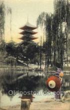 nyk001350 - Five Storied Pagoda, Nara Park Nippon Yusen Kaisha Ship, NYK Shipping Postcard Postcards