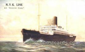 nyk001379 - Kashima Maru Nippon Yusen Kaisha, N.Y.K. Ship, Ships Postcard Postcards