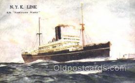 nyk001381 - Hakusan Maru Nippon Yusen Kaisha, N.Y.K. Ship, Ships Postcard Postcards