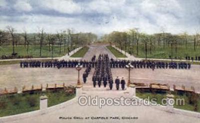 ocp001010 - Police Drill Garfield Park, Chicago, Illinois,  ILL, USA, Occupational Postcard Postcards