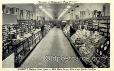 ocp001047 - Eckerds Drug Store, Cigar Counter, 1530 Main Street Columbia South Carolina, USA, Occupational Postcard Postcards