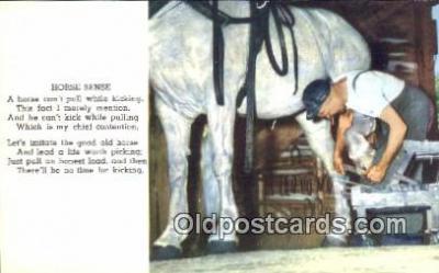 ocp030015 - Mackinac Island, Lake Huron, Michigan USA Blacksmith Postcard Black Smith Post Card Old Vintage Antique