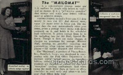 ocp060019 - Instructional post card Mail Man, Mailman, Postal Man, Worker Postcard Postcards