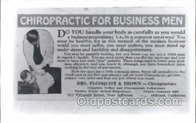 ocp100004 - Oakland, California Chiropractic, Chiropractor Medical Postcard Postcards