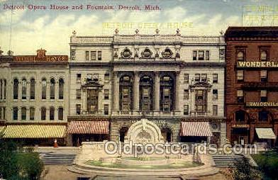 Detroit Opera House, Detroit, Michigan, USA
