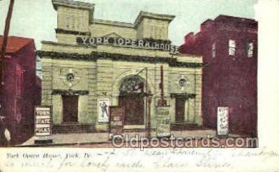 opr001168 - York Opera House, York, Pa, Pennsylvania, USA Opera Postcard Postcards