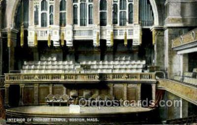 opr001172 - Tremont Temple, Boston, Mass., Massachuetts, USA Opera Postcard Postcards