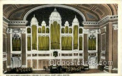 Kotzschmar Memorial Organ, City Hall Portland, Me, Maine