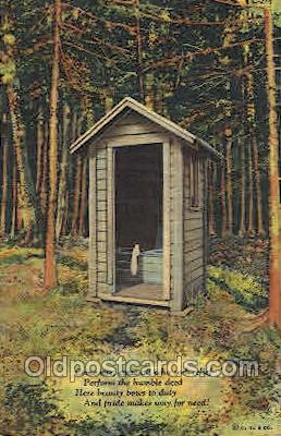 out001119 - Outhouse, OutHouses, Postcard Postcards