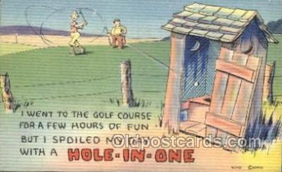 out001200 - Golf Out House, Out Houses, Outhouse, Outhouses Postcard Postcards