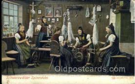 ocp001024 - Schwartzwalder Spinnstube, Spinwheel, Occupational Postcard Postcards