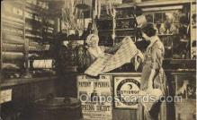 ocp001030 - Interior of Minor Grants General Store, Sturbridge, Mass. Massachusetts, USA, Occupational Postcard Postcards