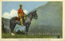 ocp001031 - A Canadian Mountie, The Royal Canadian Mounted Police, Occupational Postcard Postcards