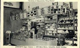 ocp001045 - Eckerds Drug Store, Cigar Counter, 1530 Main Street Columbia South Carolina, USA, Occupational Postcard Postcards