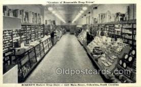 ocp001047 - Eckerds Drug Store, Cigar Counter, 1530 Main Street Columbia South Carolina, USA, Occupational Postcard Postcards