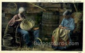 ocp001049 - Handicrafts Basket Weaving, Southern Appalachian Mountains, Occupational Postcard Postcards
