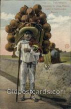 ocp001059 - Tipo Indigena, Vendedor de Ollas, Mexico, Seller of Barthenware, Mexico, Occupational Postcard Postcards