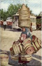 ocp001065 - Hat & Basket Vendor, Mexico. Sonora News Company, City of Mexico, Occupational Postcard Postcards