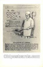 ocp010002 - Baker, Baking, Cook, Cooking, Postcard Postcards