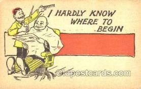 ocp020004 - Barber Shop, Hair Stylist, Postcard Postcards