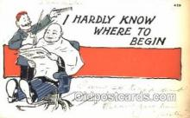 ocp020005 - Barber Shop, Hair Stylist, Postcard Postcards