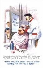 ocp020016 - Artist Donald McGill, Barber Shop, Hair Stylist, Postcard Postcards