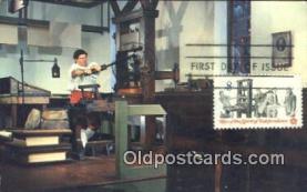 ocp030017 - Printing Office Williamburg Virginia USA Printing Press Postcard Post Card Old Vintage Antique