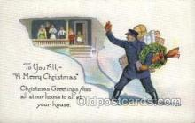 ocp060026 - A Merry Christmas, Mail Man, Mailman, Postal Man, Worker Postcard Postcards