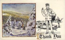 ocp060028 - Non Postcard Backing, Mail Man, Mailman, Postal Man, Worker Postcard Postcards