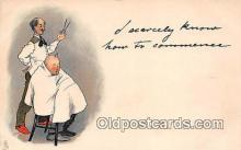 ocp100081 - Barber  Postcards Post Cards Old Vintage Antique