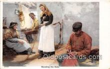 ocp100119 - Mending the Nets  Postcards Post Cards Old Vintage Antique