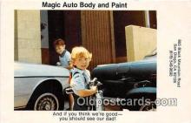 ocp100128 - Magic Auto Body & Paint San Diego, CA, USA Postcards Post Cards Old Vintage Antique