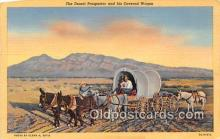 ocp100129 - Desert Prospector & His Covered Wagon  Postcards Post Cards Old Vintage Antique