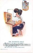 ocp100195 - Telephone Belle  Postcards Post Cards Old Vintage Antique