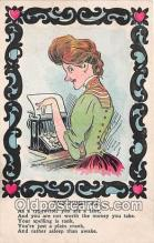 ocp100201 - Typewriter  Postcards Post Cards Old Vintage Antique