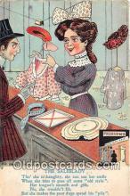 ocp100202 - Saleslady  Postcards Post Cards Old Vintage Antique