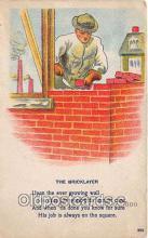ocp100216 - Bricklayer  Postcards Post Cards Old Vintage Antique