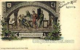 opr001047 - Gruss Aus Auerbach's Keller Leipzig Opera Postcard Postcards
