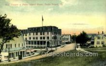 opr001165 - Gem Theatre and Peaks Island house, Peaks Island, Maine, Me,  USA Opera Postcard Postcards