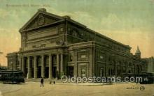 opr001195 - Symphony Hall, Boston, Mass.  USA Opera Postcard Postcards