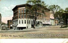 opr001282 - Belfast, Me, USA Opera Postcard Postcards