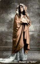 opr001310 - Miss Geneviere Hamper, Juliet Opera Postcard Postcards