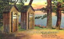 out001014 - outhouse outhouses postcard postcards